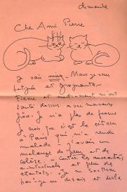 Lettre illustrée de Léonor Fini